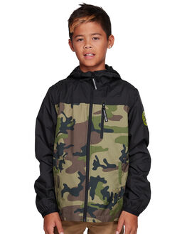 CAMO KIDS BOYS DC SHOES JUMPERS + JACKETS - EDBJK03050-RRP6