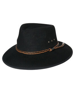 BLACK MENS ACCESSORIES RUSTY HEADWEAR - HHM0441BLK