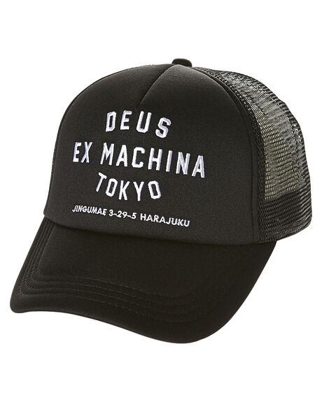 BLACK MENS ACCESSORIES DEUS EX MACHINA HEADWEAR - DMW47840BLK