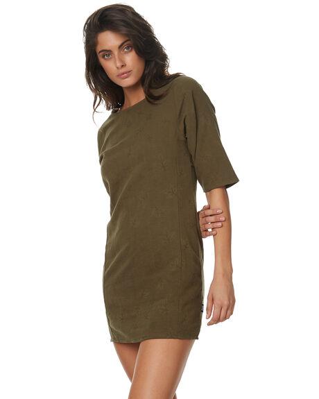 KHAKI WOMENS CLOTHING RPM DRESSES - 7PWD04BKHA