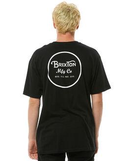 BLACK MENS CLOTHING BRIXTON TEES - 06452BLACK