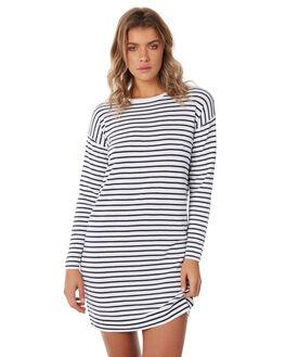 NAVY STRPE WOMENS CLOTHING ELWOOD DRESSES - W824043G7