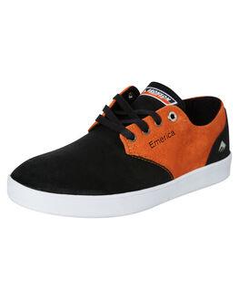 BLACK ORANGE MENS FOOTWEAR EMERICA SNEAKERS - 6107000236960