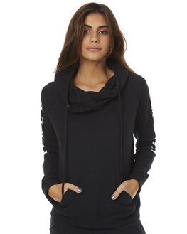 BLACK WOMENS CLOTHING HURLEY JUMPERS - AGFLDOU00A