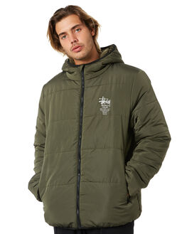FLIGHT GREEN MENS CLOTHING STUSSY JACKETS - ST006500FGRN