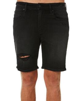 BLACK MAMBA DESTROY MENS CLOTHING LEE SHORTS - L-606559-MH1BLKMA