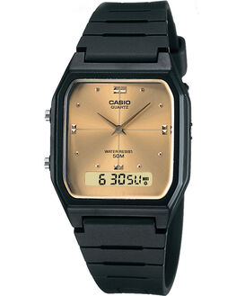 BLACK GOLD MENS ACCESSORIES CASIO WATCHES - AW48HE-9ABKGLD