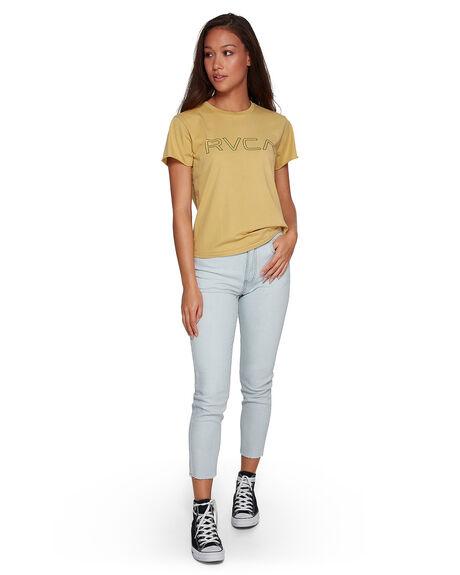PLUM BERRY WOMENS CLOTHING RVCA TEES - RV-R281692-PBY