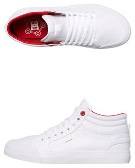 WHITE WHITE TRUE RED WOMENS FOOTWEAR DC SHOES HI TOPS - ADJS300164WWT