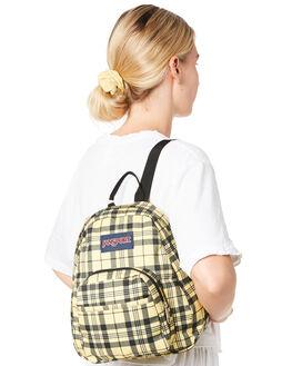 THROWBACK PLAID WOMENS ACCESSORIES JANSPORT BAGS + BACKPACKS - JSTDH6JS6G7TPLD
