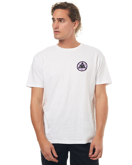 WHITE MENS CLOTHING WELCOME TEES - MANEDWOOFWHT