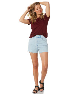 BURGUNDY WOMENS CLOTHING AS COLOUR TEES - 4001BURG