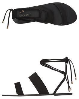 BLACK SUEDE WOMENS FOOTWEAR BILLINI FASHION SANDALS - S519BLK