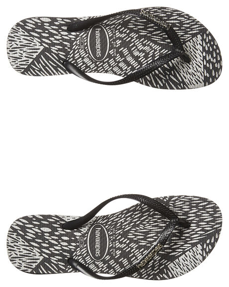 213cc9ccaec5da Havaianas Slim Metal Logo Prints Animals Thong - Black