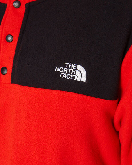 FIERY RED TNF BLACK MENS CLOTHING THE NORTH FACE JACKETS - NF0A4AJDWU5
