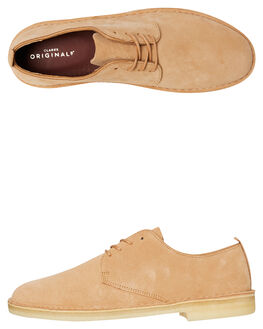 LIGHT TAN MENS FOOTWEAR CLARKS ORIGINALS BOOTS - SSDESERT_LONDONLTANM