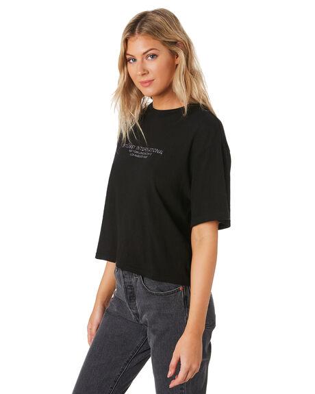 BLACK WOMENS CLOTHING STUSSY TEES - ST191003BLK