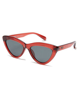 POLISHED BURGUNDY WOMENS ACCESSORIES LOCAL SUPPLY SUNGLASSES - RESORTBYP25