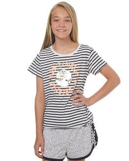 BLACK WHITE STRIPE KIDS GIRLS EVES SISTER TEES - 9900042STR