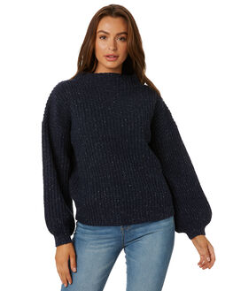 DARK SAPPHIRE WOMENS CLOTHING RUSTY KNITS + CARDIGANS - CKL0352DRS