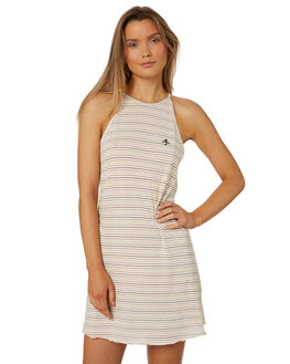 NATURAL STRIPE WOMENS CLOTHING THRILLS DRESSES - WTS8-906AZNAT