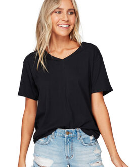 OFF BLACK WOMENS CLOTHING BILLABONG TEES - BB-6592131-OFB