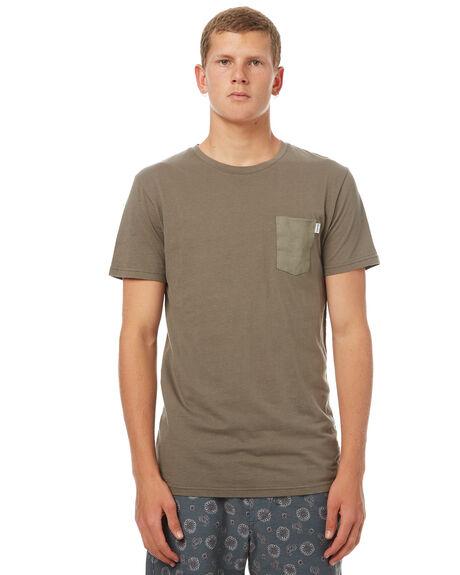 OLIVE MENS CLOTHING RHYTHM TEES - OCT17M-CT01-OLI