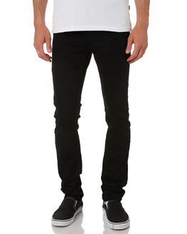 BLACK MENS CLOTHING DR DENIM JEANS - 2010109101BLK