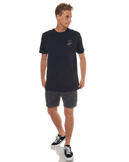 BLACK MENS CLOTHING VOLCOM TEES - A5041706BLK