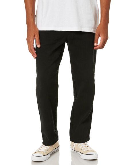 BLACK MENS CLOTHING STUSSY PANTS - ST001609BLK