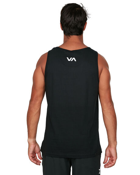 BLACK MENS CLOTHING RVCA SINGLETS - RV-R305005-BLK