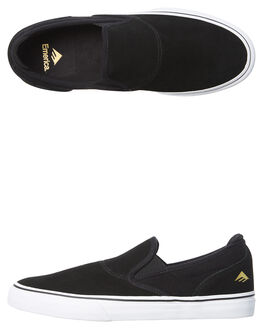 BLACK WHITE GOLD MENS FOOTWEAR EMERICA SKATE SHOES - 6101000111-715