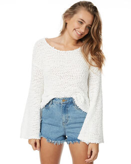 WHITE WOMENS CLOTHING TIGERLILY KNITS + CARDIGANS - T371130WHT