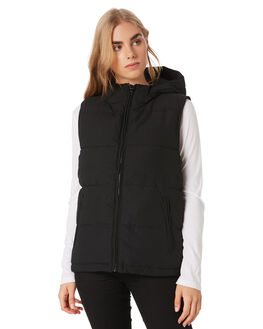 BLACK WOMENS CLOTHING HUFFER JACKETS - WPVE02S1801BLK