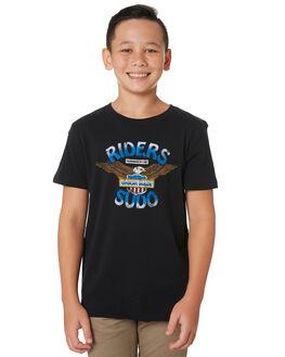 BLACK COAL KIDS BOYS RIDERS BY LEE TOPS - R-30097T-N28