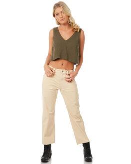 OLIVE WOMENS CLOTHING RVCA FASHION TOPS - R281184OL1