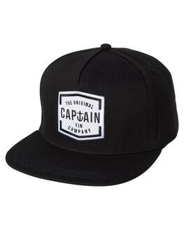 BLACK MENS ACCESSORIES CAPTAIN FIN CO. HEADWEAR - CFA5541603BLK