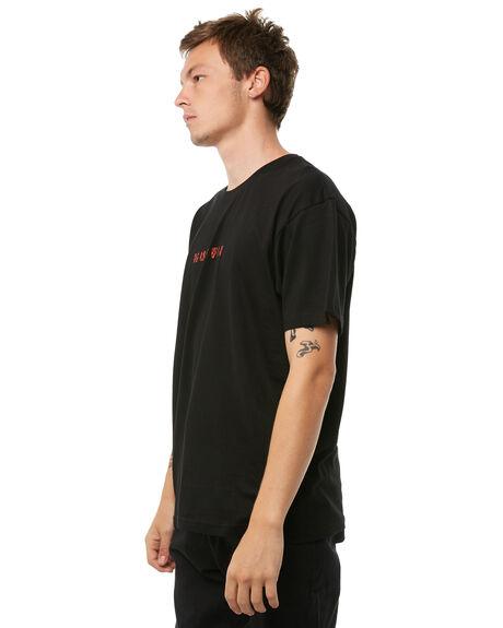 BLACK MENS CLOTHING HUFFER TEES - MTE81S220-576BLK