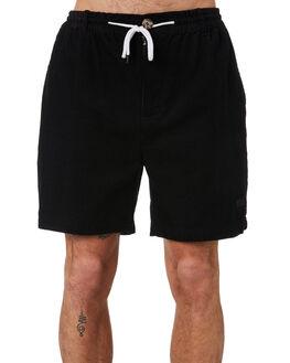 WASHED BLACK MENS CLOTHING MISFIT SHORTS - MT091604WSBLK