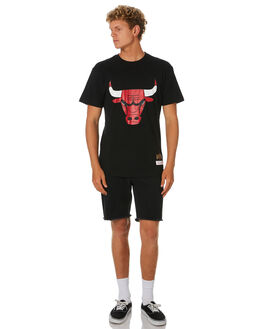 BULLS BLACK MENS CLOTHING MITCHELL AND NESS TEES - 4173TLBLK