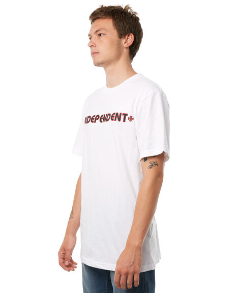 WHITE MENS CLOTHING INDEPENDENT TEES - IN-MTA8210WHT