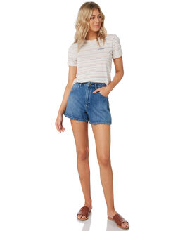 TEMPLE INDIGO WOMENS CLOTHING WRANGLER SHORTS - W-951566-MM4