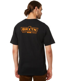 BLACK MENS CLOTHING BRIXTON TEES - 06867BLACK