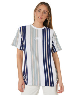WHITE STRIPE WOMENS CLOTHING STUSSY TEES - ST191108WHIS