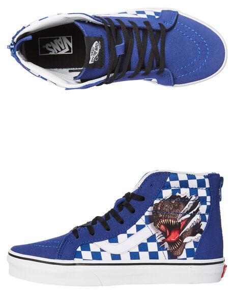 09575abff7 Vans Kids Sk8 Hi Zip Checkerboard Shoe - Dino White