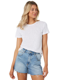 WHITE WOMENS CLOTHING SWELL TEES - S8201014WHI