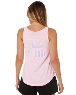 NOTE PINK WOMENS CLOTHING RUSTY SINGLETS - TSL0553-NPK