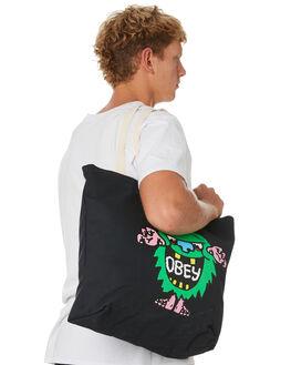 BLACK MENS ACCESSORIES OBEY BAGS + BACKPACKS - 100552087BLK
