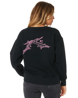BLACK WOMENS CLOTHING RUSTY JUMPERS - FTL0692BLK