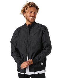 BLACK MENS CLOTHING RVCA JACKETS - R381431BLK